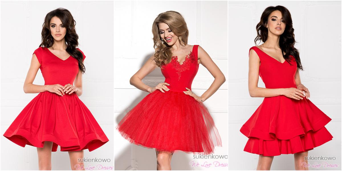 84b66defc3f4 Czerwone sukienki na wesele