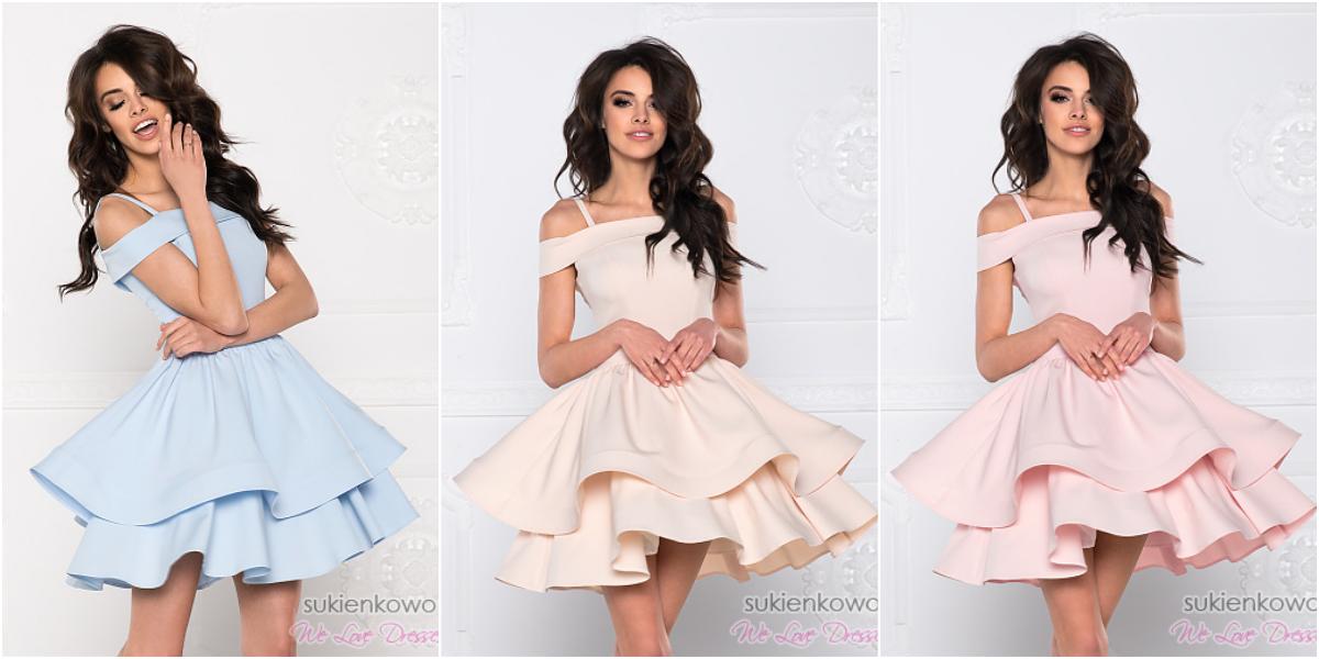 fb6f29543a Pastelowe sukienki na wesele