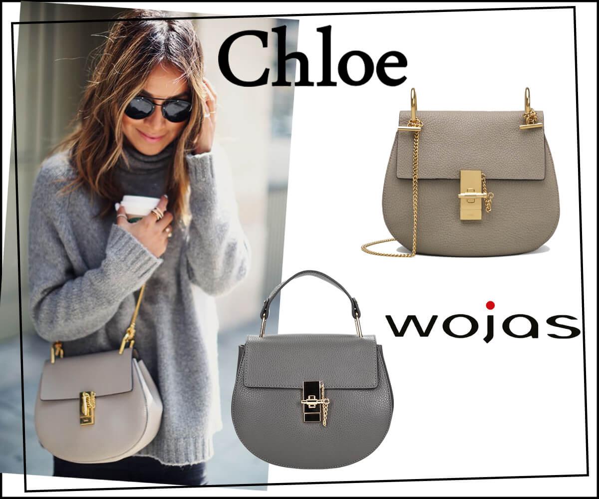 d56eb91fdddbc Oryginalna torebka Chloe Drew od razu zwraca uwagę szlachetnym materiałem,  z którego została wykonana. Drobnoziarnistą skórę cielęcą pokryto cienką  warstwą ...