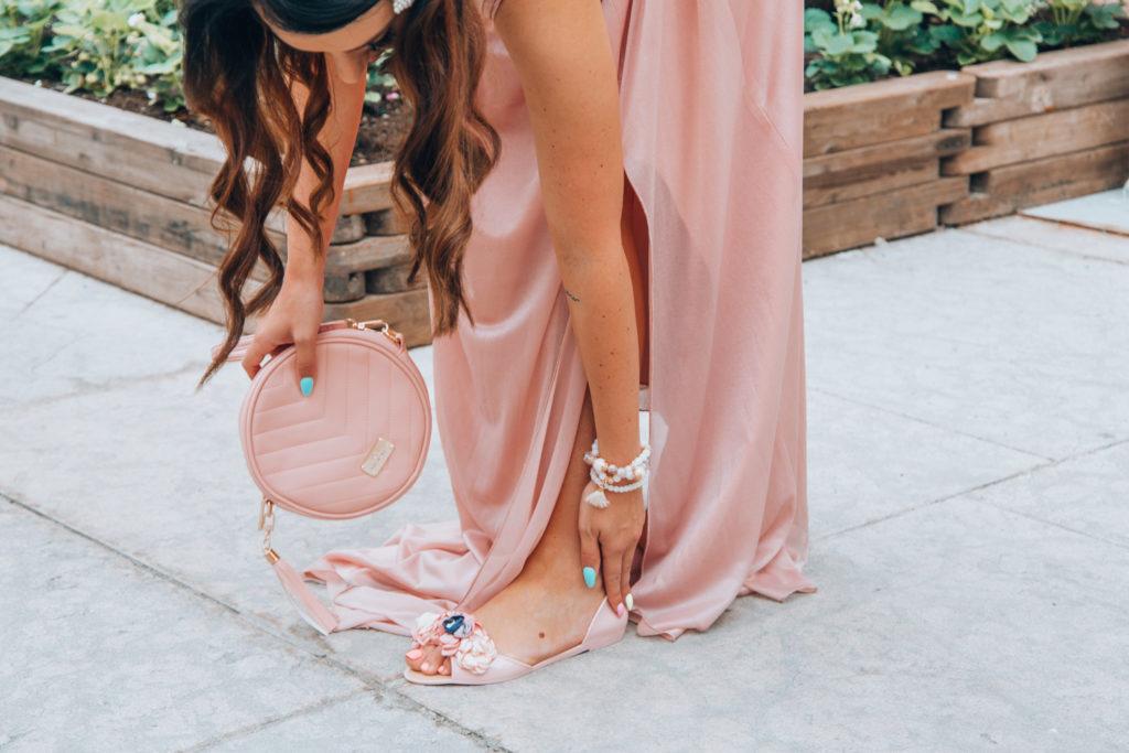 suknia maxi nude