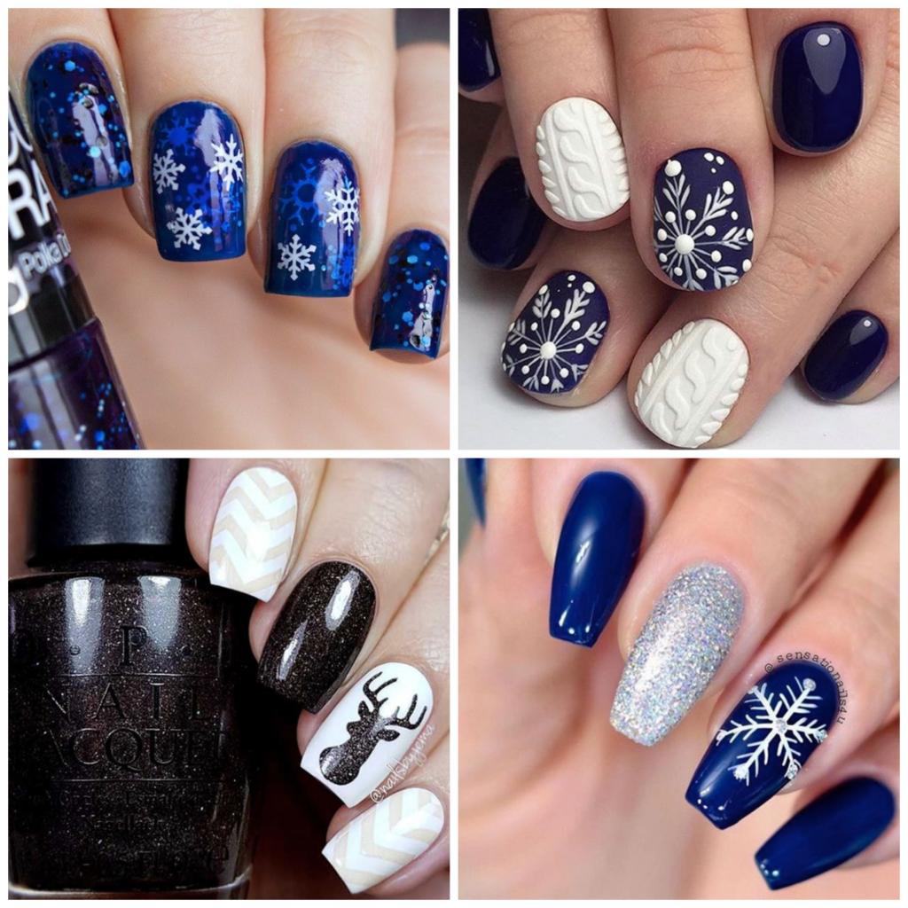 manicure na swieta