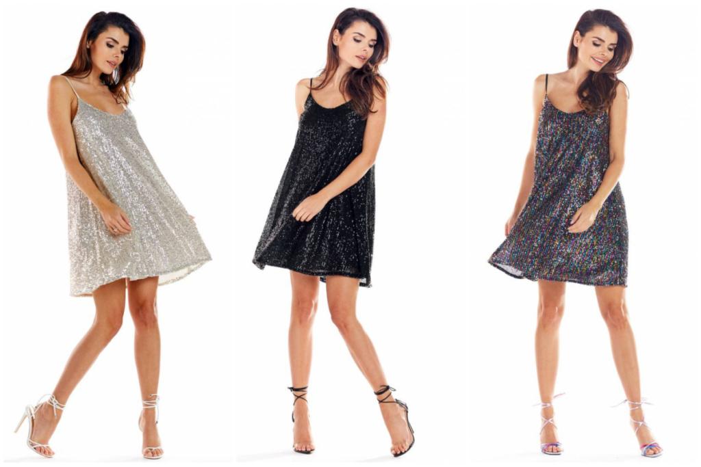 sukienki z cekinami