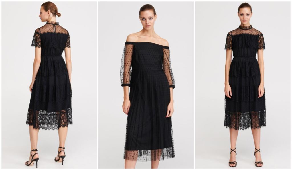 czarne sukienki z koronką