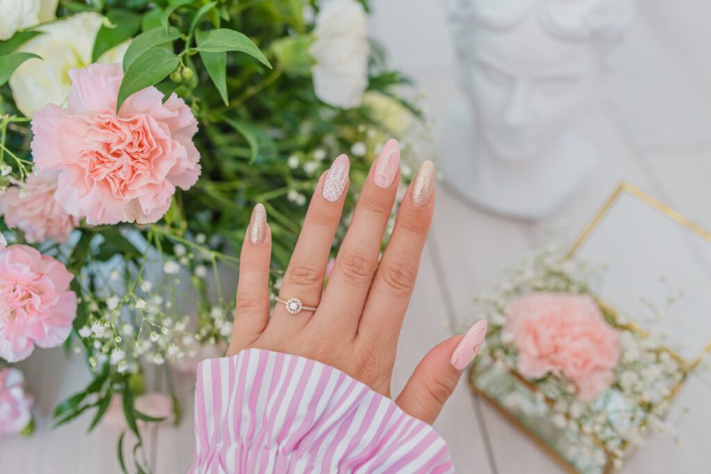 wedding boho manicure
