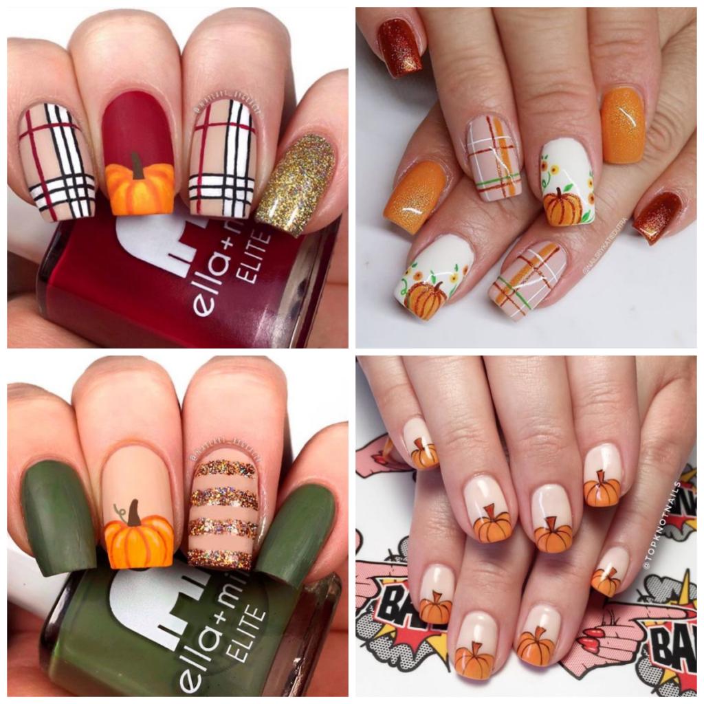 halloween paznokcie