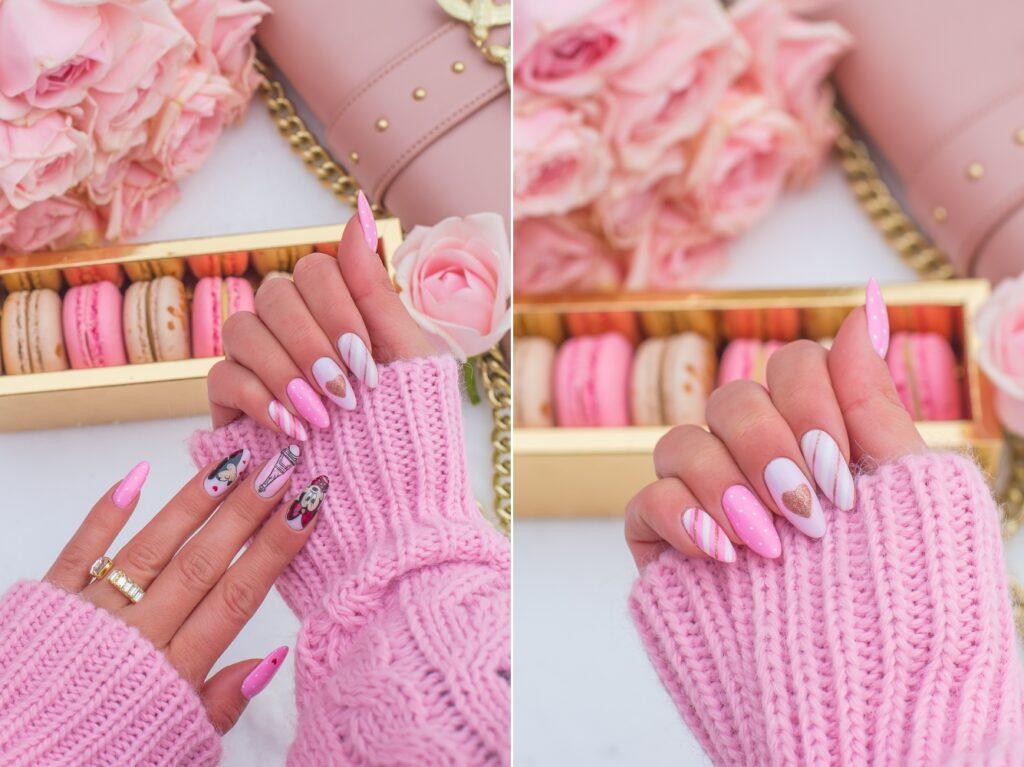 manicure z myszką mickey