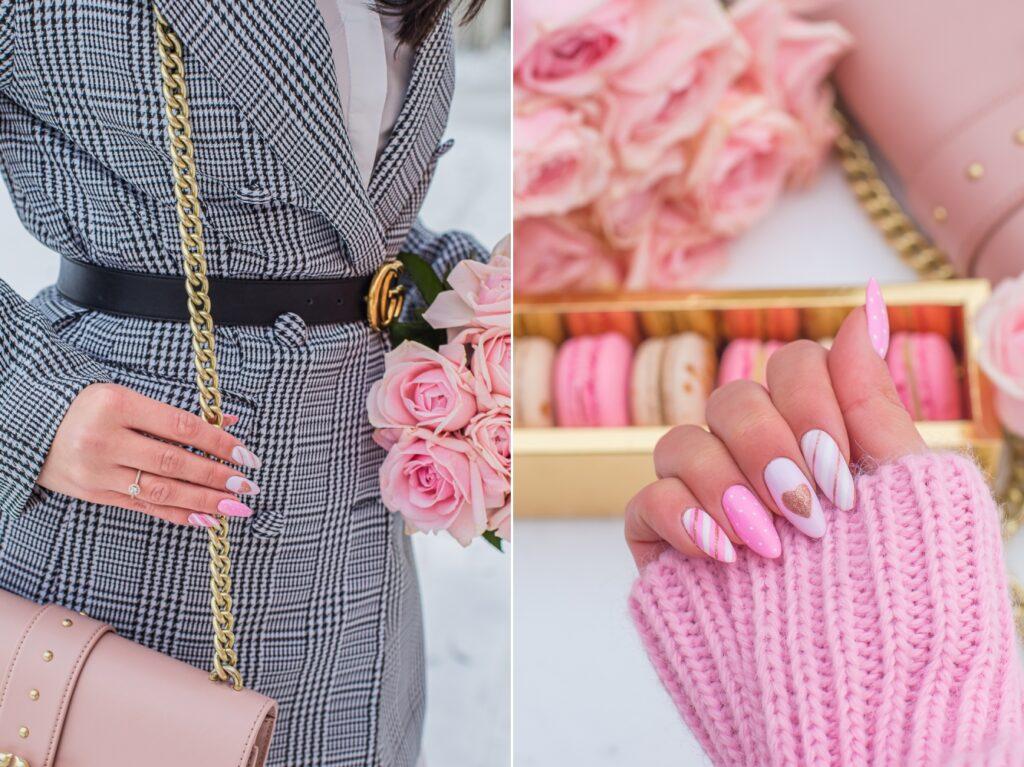 manicure walentynkowy