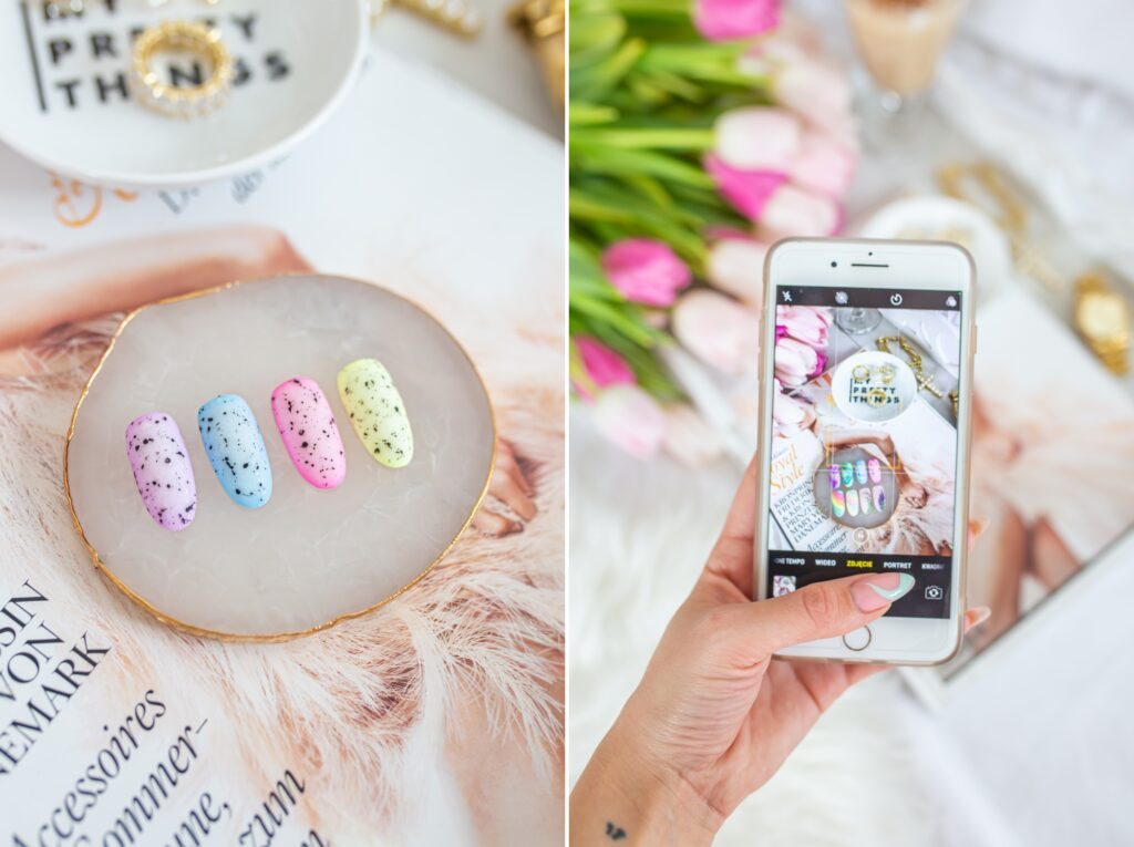 eggshell nails paznokcie