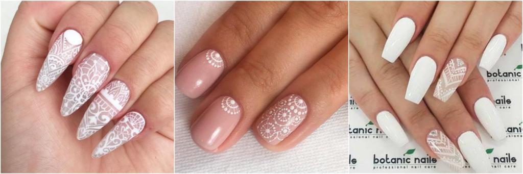 boho manicure wedding